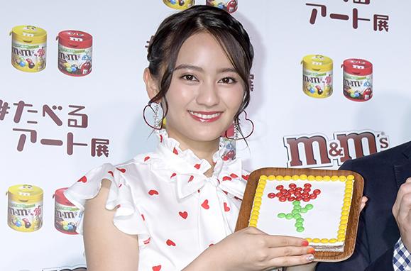 【岡田結実】5月9日「M&M'S® ♯たべるアート展」開催記念 記者発表会に出席!