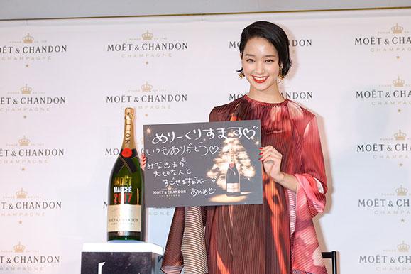 剛力彩芽 11月30日「モエ クリスマス マルシェ 2017」オープニングセレモニーに出席!