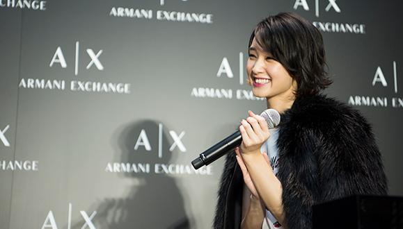 【剛力彩芽】A Xアルマーニ エクスチェンジ 福岡店オープン記念イベントに登場!