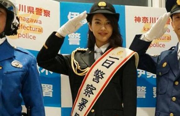 【田中道子】5月13日 神奈川県伊勢佐木警察署の一日警察署長に就任、式典に出席しました!
