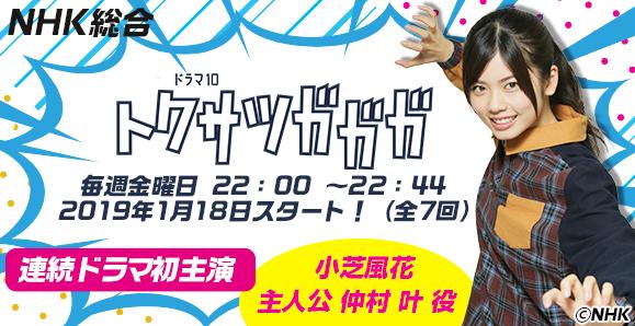 【小芝風花】いよいよ、今夜放送スタート!連続ドラマ初主演「トクサツガガガ」出演情報!